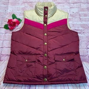 Old Navy Womens Large Down Puffer Vest Jacket